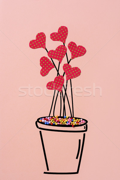 plant with cutout hearts simulating flowers Stock photo © nito