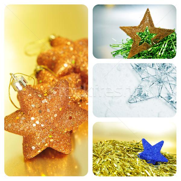 christmas stars collage Stock photo © nito