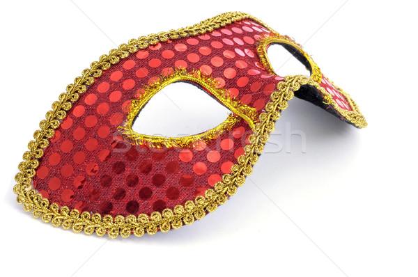 Carnaval masker elegante Rood gouden witte Stockfoto © nito