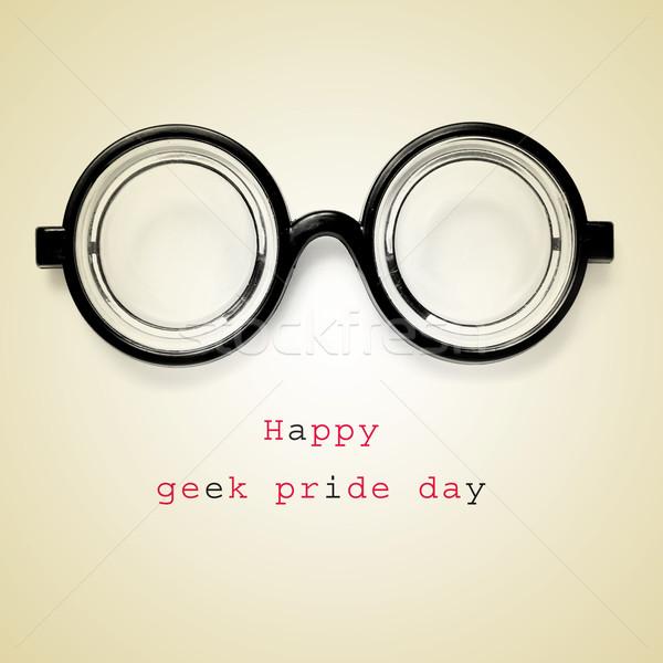 幸せ オタク 誇り 日 ペア 眼鏡 ストックフォト © nito