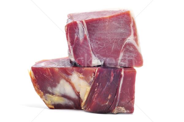 Espagnol serrano jambon pièces alimentaire fond Photo stock © nito