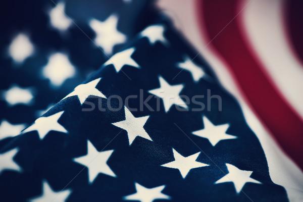 Pavillon États-Unis Amérique étoiles rétro Photo stock © nito