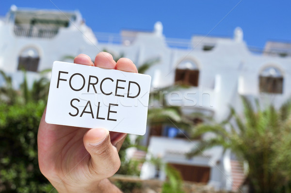 signboard with the text forced sale Stock photo © nito