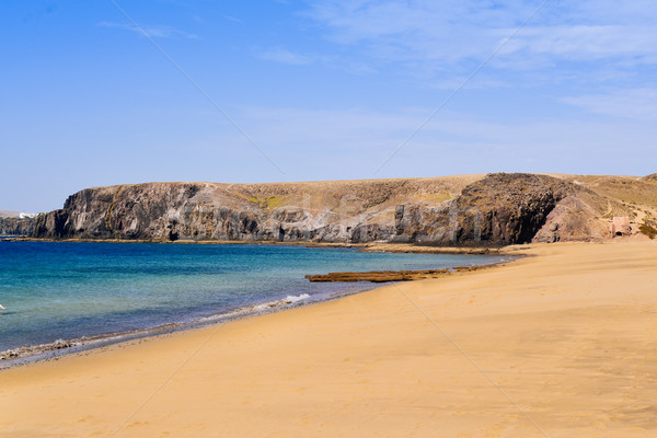Playa Mujeres beach in Lanzarote, Canary Islands, Spain Stock photo © nito