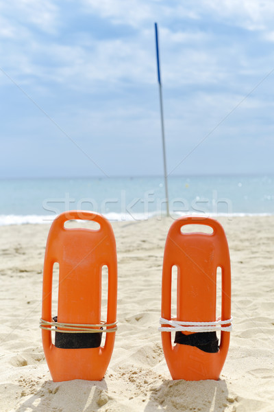 rescue buoys on a quiet beach Stock photo © nito