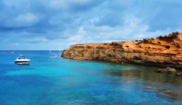 Part szigetek Spanyolország kilátás víz természet Stock fotó © nito