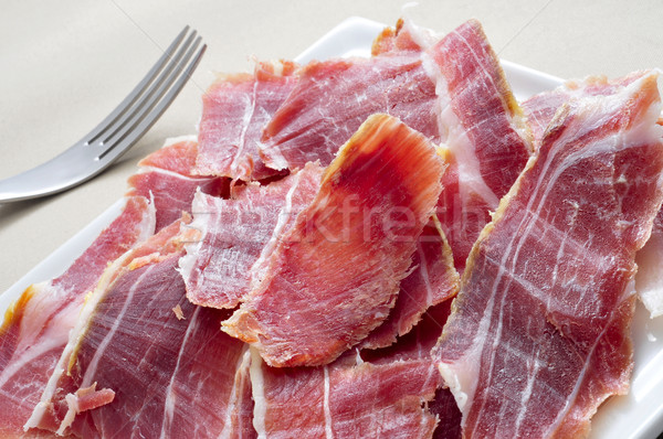 Serrano ham tapas spaans voedsel Stockfoto © nito
