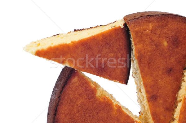 Parçalar beyaz doku kek ekmek Stok fotoğraf © nito