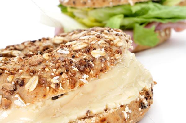 Kahverengi simit peynir farklı tohumları Stok fotoğraf © nito