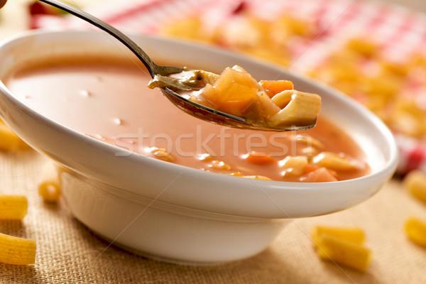 minestrone, typical italian soup Stock photo © nito