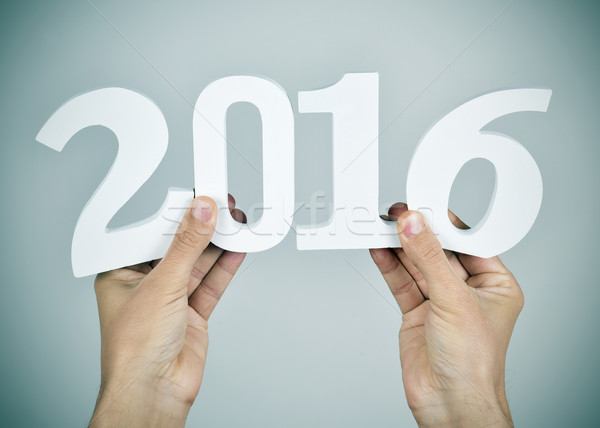 number 2016, as the new year Stock photo © nito