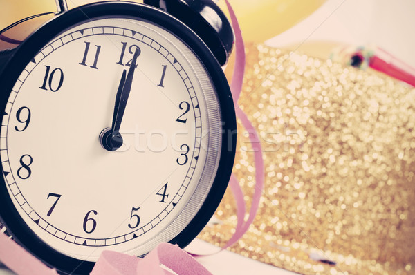 watch at twelve on the new years party, filtered Stock photo © nito