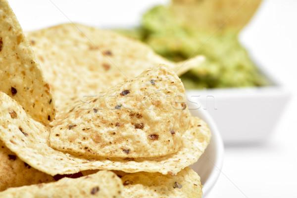 nachos and guacamole Stock photo © nito