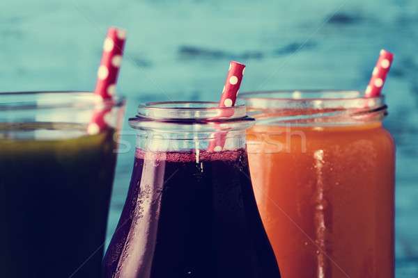 different fresh smoothies Stock photo © nito