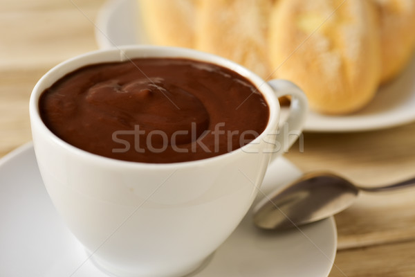 xocolata i melindros, hot chocolate with typical pastries of Cat Stock photo © nito