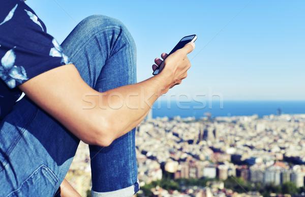 Homem Barcelona Espanha jovem Foto stock © nito