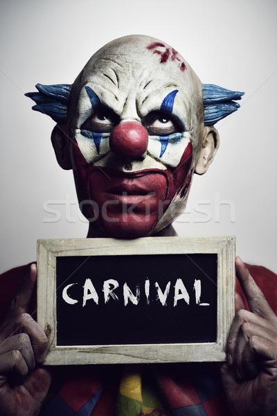 evil clown and text carnival Stock photo © nito
