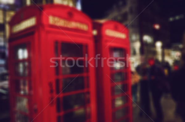 blur background of a street of London at night Stock photo © nito