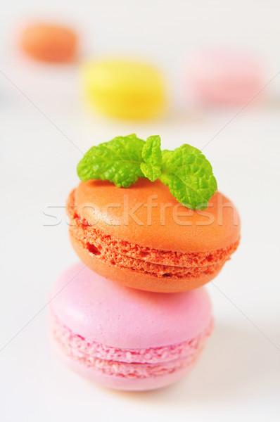 Macarons apetitoso diferente cores sabores branco Foto stock © nito