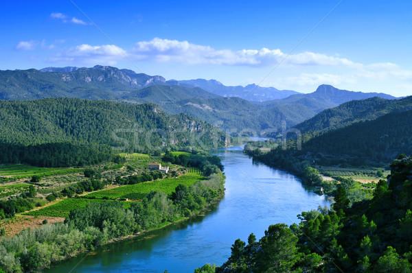 Ebro River passing through Miravet, Spain Stock photo © nito
