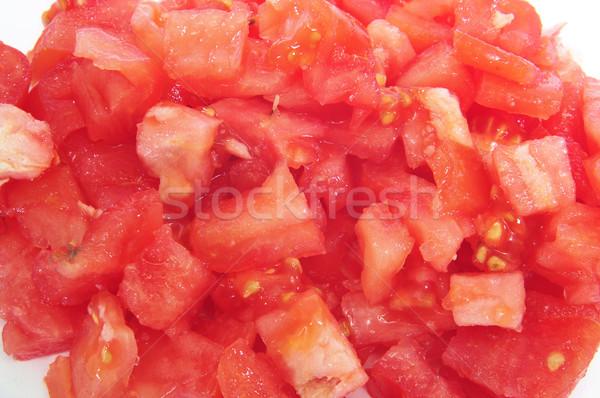 Gehakt tomaat ruw gezondheid kleur Stockfoto © nito