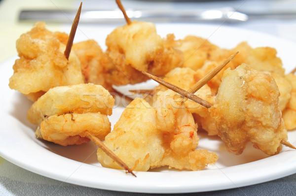 breaded fish and shrimps Stock photo © nito