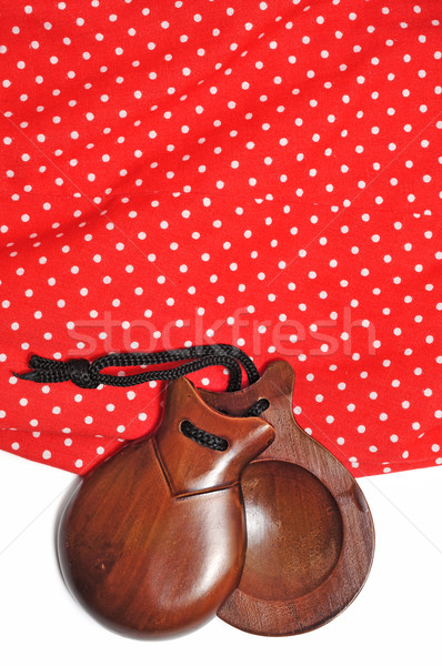 castanets and flamenco dress Stock photo © nito