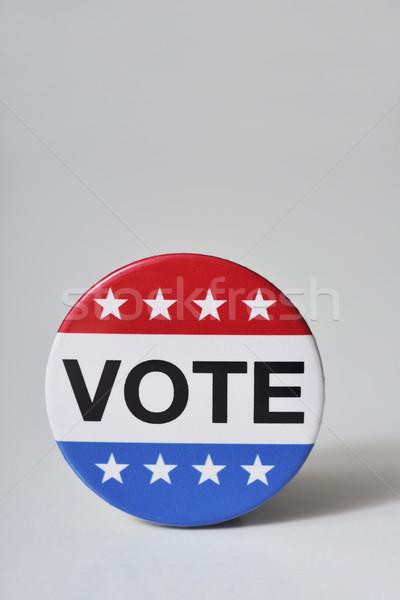 Rozet Amerika Birleşik Devletleri seçim kelime oy Stok fotoğraf © nito