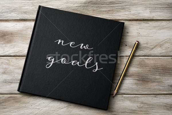 text new goals in a notebook Stock photo © nito