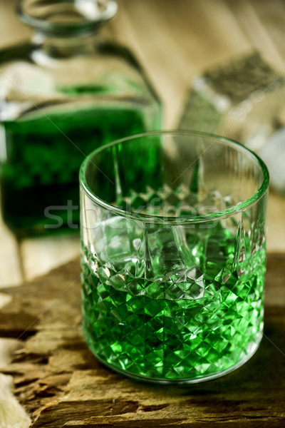 dyed green whiskey Stock photo © nito
