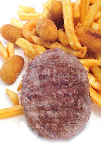 Tuczący żywności biały tle Zdjęcia stock © nito