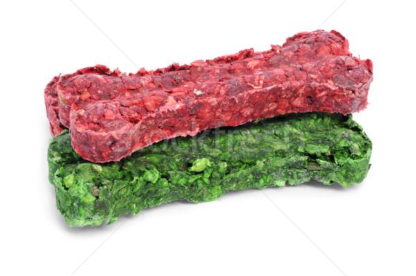 Foto stock: Cão · biscoitos · diferente · cores · branco · comida