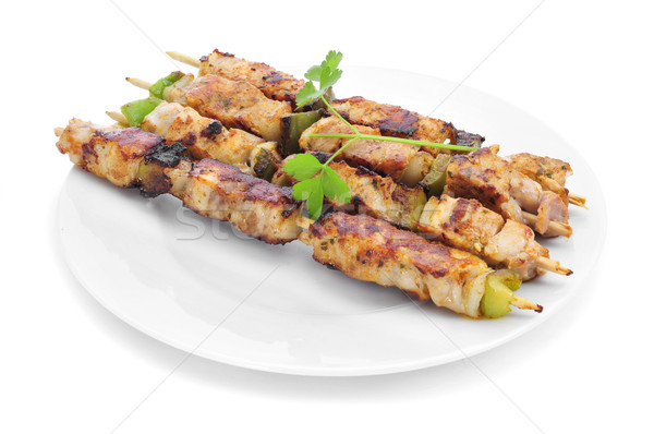 chicken and vegetables skewers Stock photo © nito