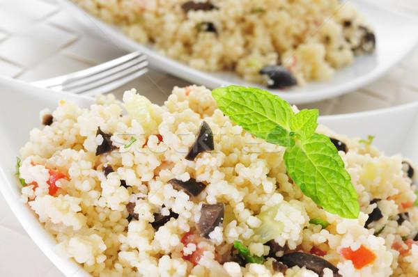 Сток-фото: пластина · типичный · арабских · Салат · продовольствие