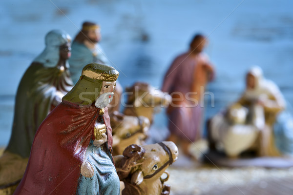 the three kings and the holy family Stock photo © nito