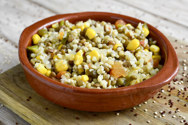 bulgur salad with lentils and other vegetables Stock photo © nito