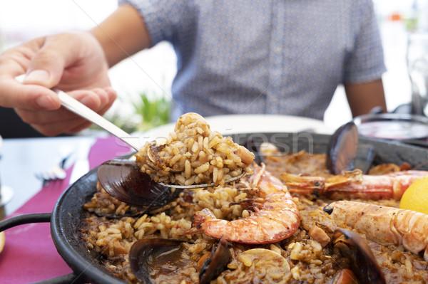 Hombre típico espanol mariscos primer plano Foto stock © nito