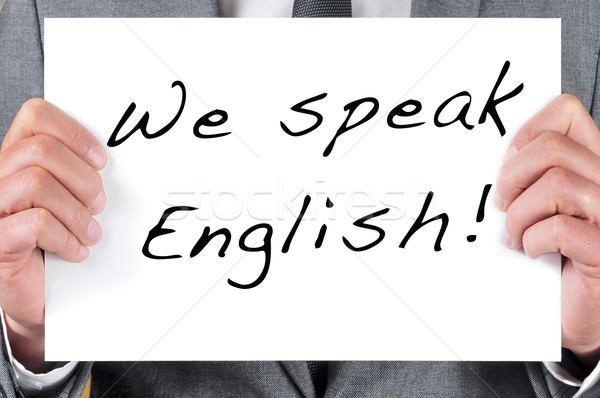 we speak english Stock photo © nito