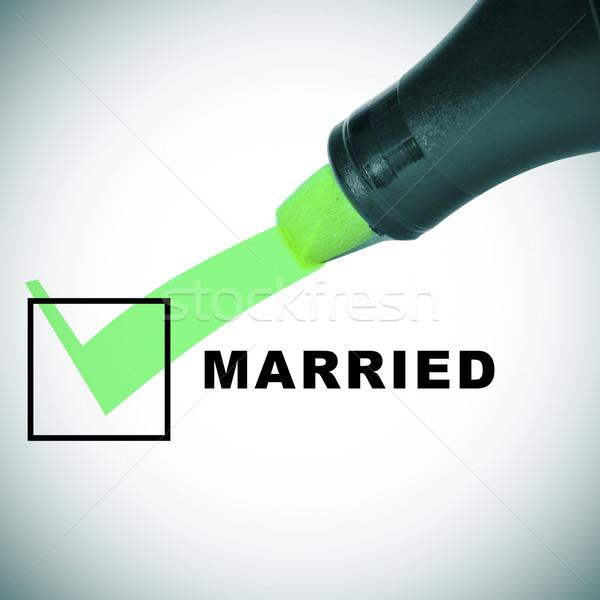 結婚 チェック マーク 緑 マーカー ストックフォト © nito