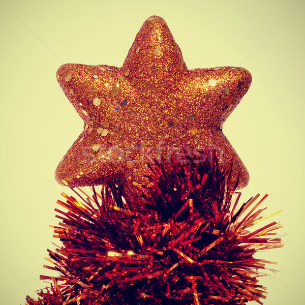 christmas star with a retro effect Stock photo © nito