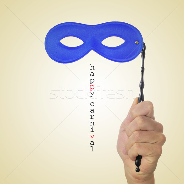 Feliz carnaval homem mão azul Foto stock © nito