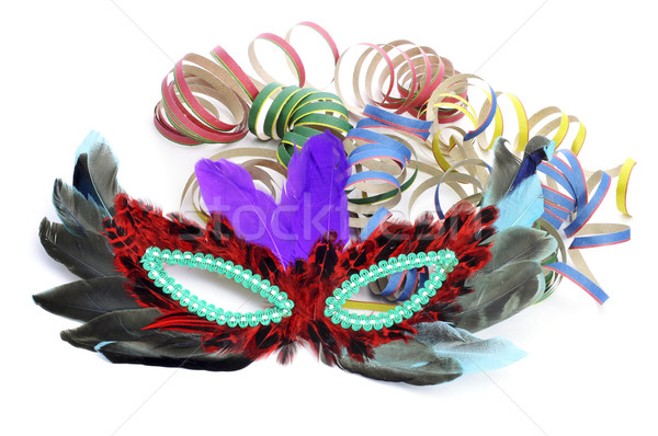 carnival mask and paper streamers Stock photo © nito