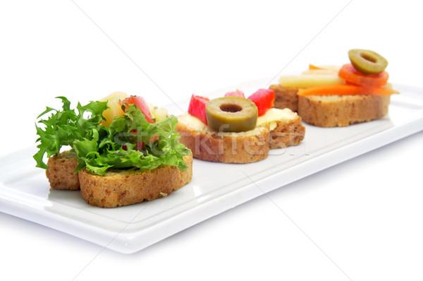 Vegetariano primer plano placa diferente bar pan Foto stock © nito