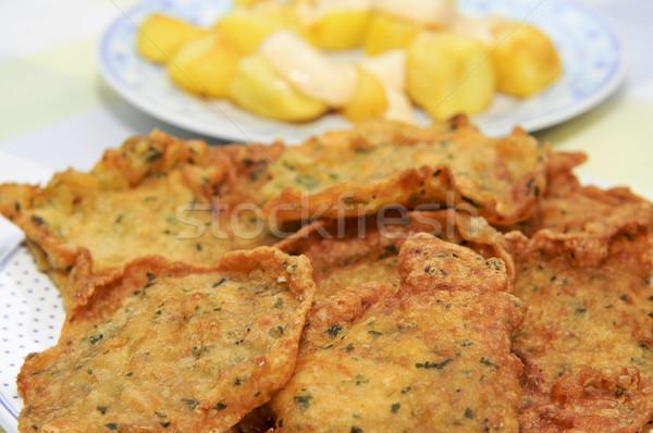 spanish shrimp cakes and patatas bravas Stock photo © nito