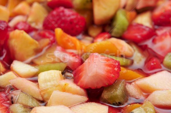 Salade de fruits bol alimentaire restaurant hôtel Photo stock © nito
