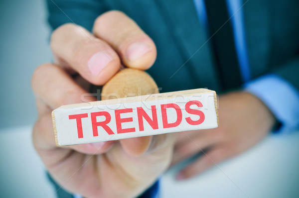 text trends in a rubber stamp Stock photo © nito