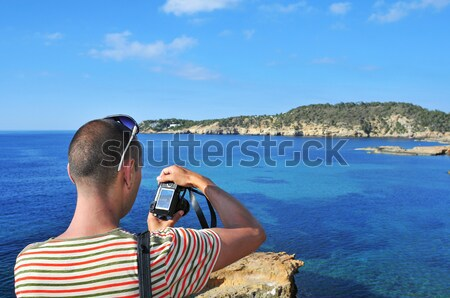 man taking a picture in Ibiza Island, Spain Stock photo © nito