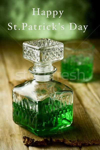 green whiskey and text happy st patricks day Stock photo © nito