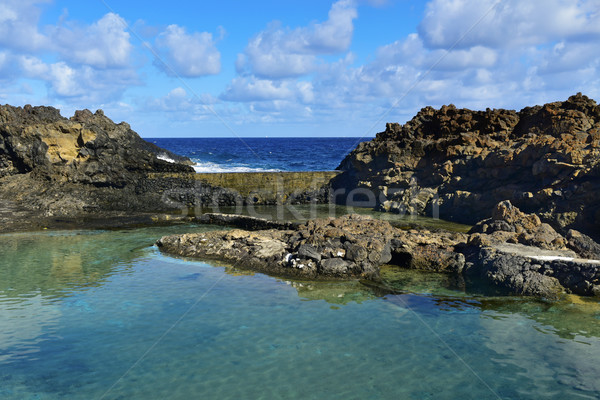 Charco del Palo in Lanzarote, Canary Islands, Spain Stock photo © nito