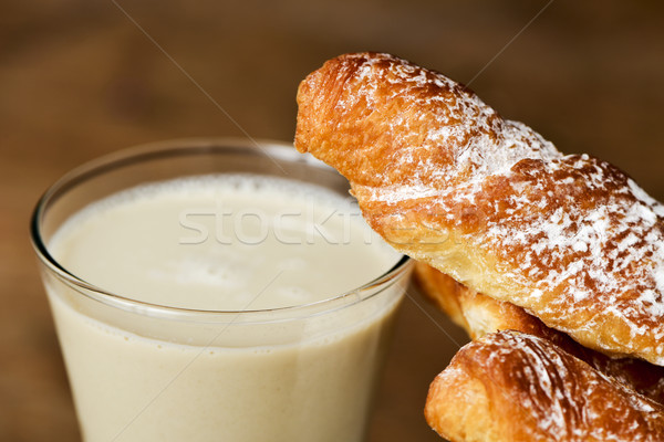 horchata and fartons, typical snack in Valencia, Spain Stock photo © nito